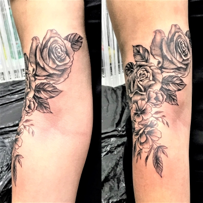 Tattoo Rosen am Arm (3)