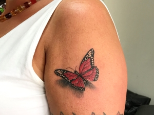 Tattoo Schmetterling 3D Frauen