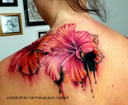 Tattoo Cover up Aquarell