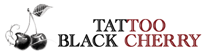logo quer black tattoo black cherry